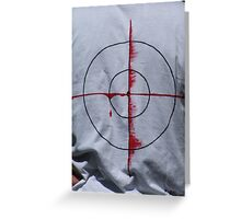 Bulls eye..... Greeting Card