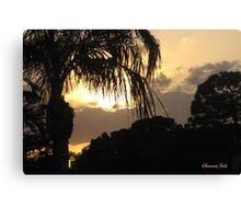 A Peaceful Evening Sky in Florida Canvas Print