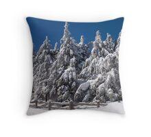 Deep Snow Throw Pillow