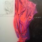 'Red Morning'      The drapery is complete.... by Warren Haney