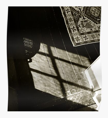 carpet rug and shadowed floor  Poster
