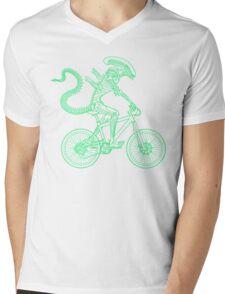 Alien Ride Mens V-Neck T-Shirt