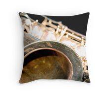 Playing the tenor sax Throw Pillow