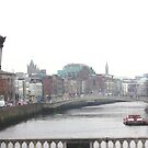 Dublin looking over from O'Connel Bridge by heartyart