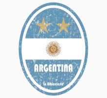 World Cup Football 5/8 - Argentina (Distressed) by madeofthoughts
