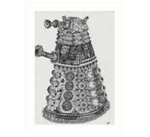 Dalek Pattern Art Print