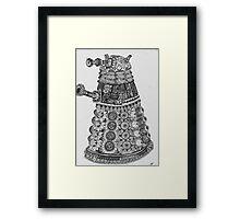 Dalek Pattern Framed Print