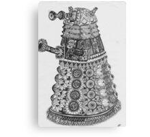 Dalek Pattern Metal Print
