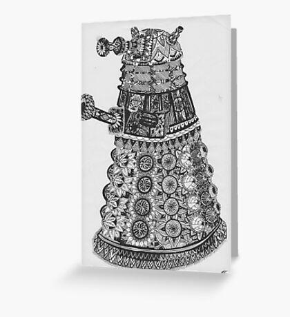 Dalek Pattern Greeting Card