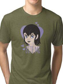 BITE ME Valentine punk princess Tri-blend T-Shirt