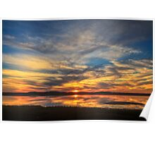 Sunset Spreads over Plum Island Poster