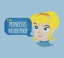 Real princesses never poop Kids Tee