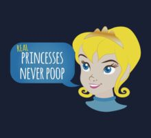 Real princesses never poop Kids Clothes