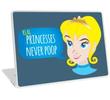 Real princesses never poop Laptop Skin
