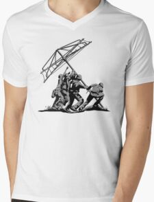Raising the Line Mens V-Neck T-Shirt