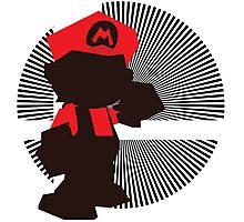 Mario (Smash 64) - Sunset Shores Photographic Print