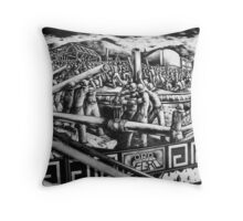"Mural ""Black Gold"" (Oro Negro) Throw Pillow"