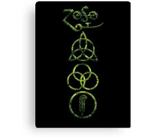 EXTREME DISTRESSED TRIQUETRA - lizard king V Canvas Print