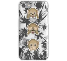 palm trees no evil iPhone Case/Skin