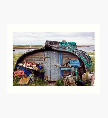 Boat Shed Art Print