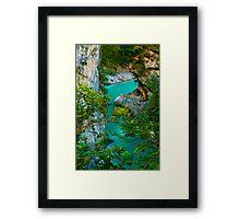 Turquoise Flow Framed Print