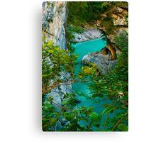 Turquoise Flow Canvas Print
