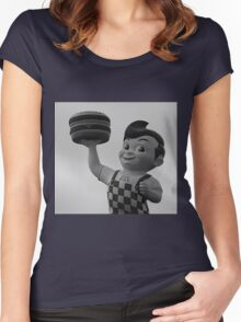 Breakfast at Big boy's house Women's Fitted Scoop T-Shirt