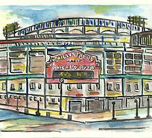 Wrigley Field by Matt  Gaudian