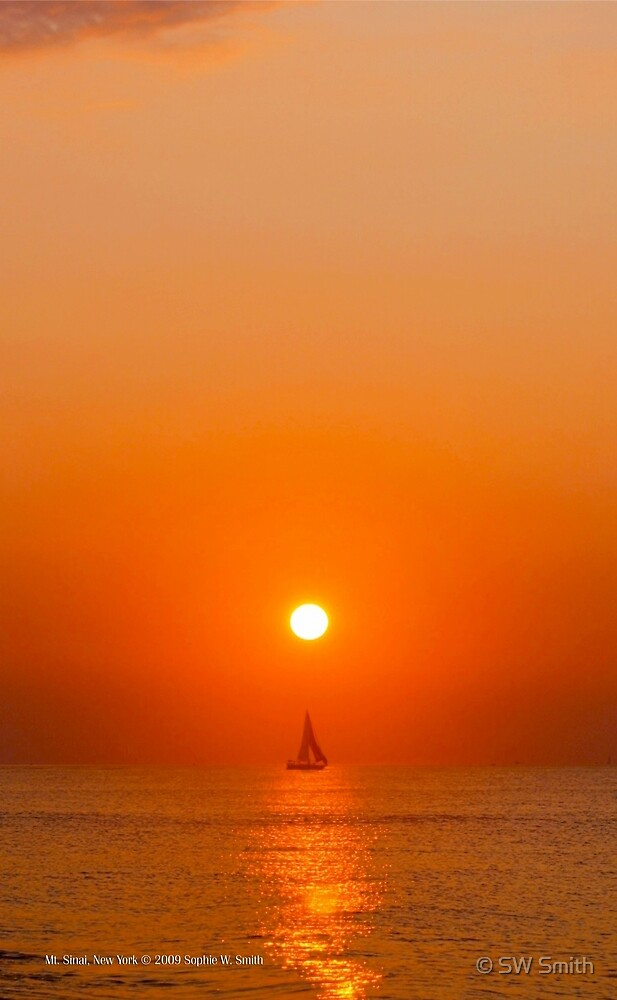 Sailing Under The Sun | Mt. Sinai, New York  by © Sophie W. Smith