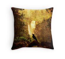 Felt Mountain Throw Pillow