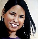 Elena - oil painting portrait by LindaAppleArt