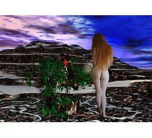 Goddess and Rose 3 Photographic Print