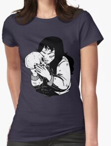 SKULL X GIRL Womens Fitted T-Shirt