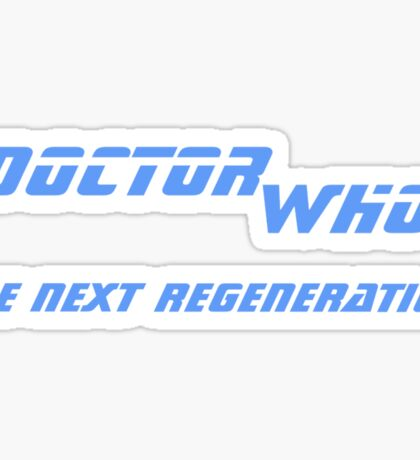 Doctor Who - The Next Regeneration Sticker