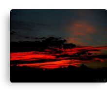 Sand Red Clouds Canvas Print