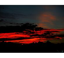 Sand Red Clouds Photographic Print