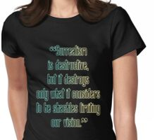 Surrealism Is Destructive Womens Fitted T-Shirt