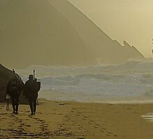 Fishermen at Adraga beach (enough for today) by BaZZuKa