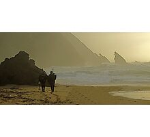 Fishermen at Adraga beach (enough for today) Photographic Print