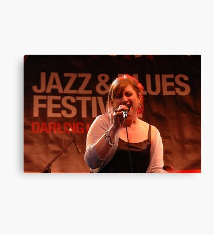 Anita Wardell @ Jazz & Blues Festival 2009 Canvas Print