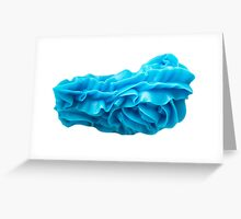 blue icing Greeting Card