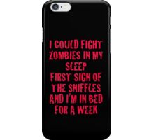 Zombies & Sniffles (Red) iPhone Case/Skin