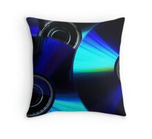 Circular Blue Throw Pillow