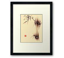 'Genmai Cha' - brush pen bamboo painting Framed Print