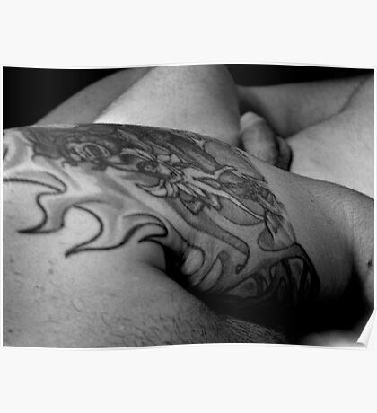 Nude with Tattoo Poster