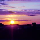 sunset of blues and purples by Cheryl Kay-Roberts