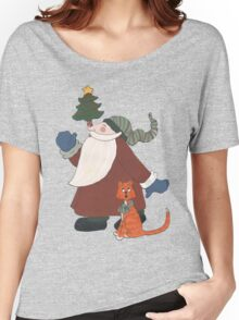 Juggling Santa Women's Relaxed Fit T-Shirt