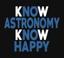 Know Astronomy Know Happy - Unisex Tshirt T-Shirt