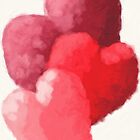 Hearts 2 Painterly by Christopher Johnson