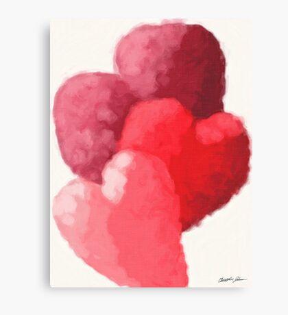 Hearts 2 Painterly Canvas Print